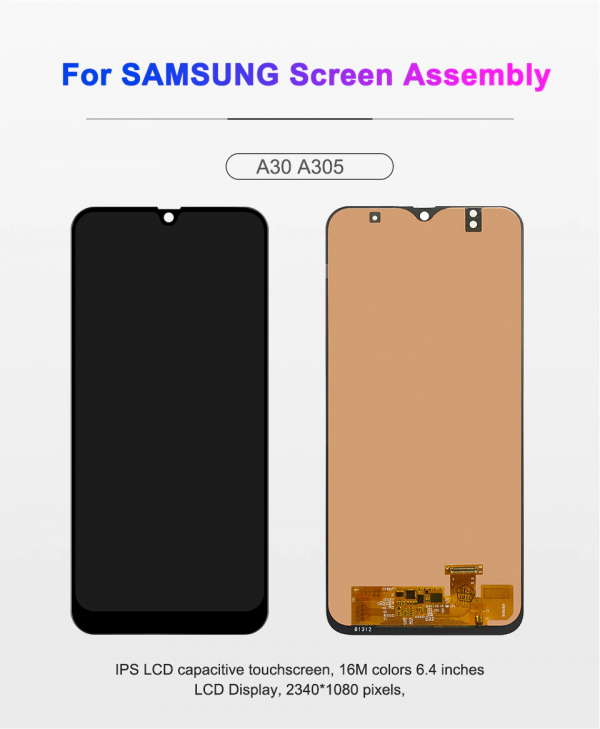 Samsung galaxy A30 first copy LCD Touch Screen Digitizer